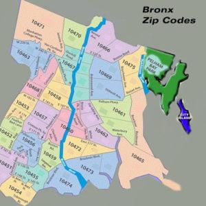 Bronx-zip-code-map